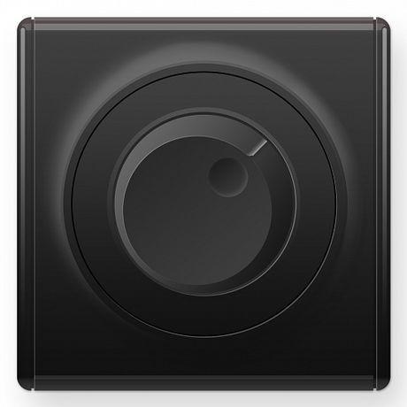 1E42001303 Светорегулятор 600 W для ламп накаливания и галогенных ламп, цвет чёрный в рамке