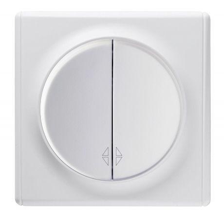 1E31601300 Переключатель двойной, цвет белый с рамкой