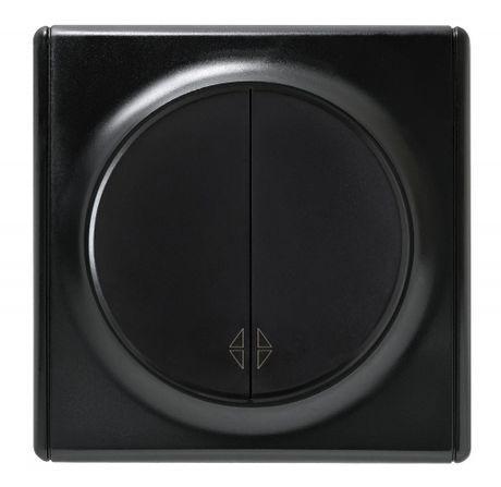 1E31601303 Переключатель двойной, цвет чёрный с рамкой