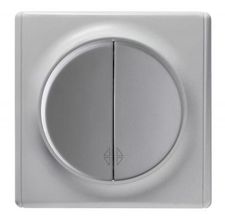 1E31601302 Переключатель двойной, цвет серый с рамкой