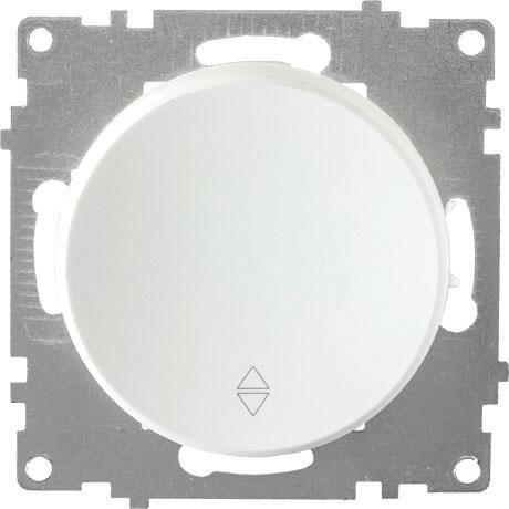 1E31401300 Переключатель одинарный, цвет белый