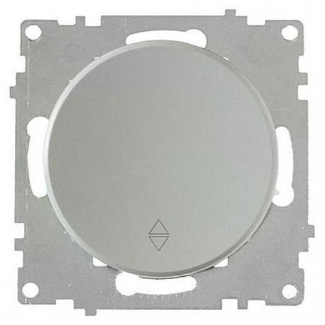 1E31401302 Переключатель одинарный, цвет серый
