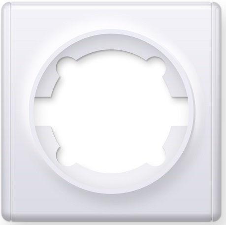 1E52101300 Рамка одинарная, цвет белый