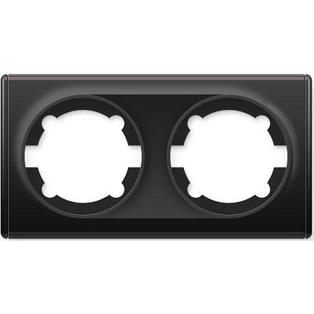 1E52201303 Рамка двойная, цвет чёрный