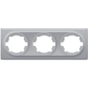 1E52301302 Рамка тройная, цвет серый
