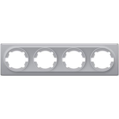 1E52401302 Рамка на 4 прибора, цвет серый