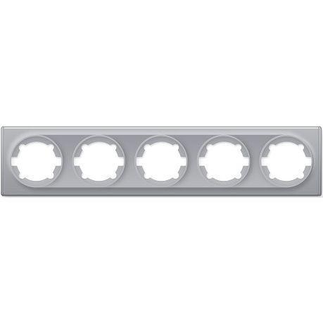 1E52501302 Рамка на 5 приборов, цвет серый