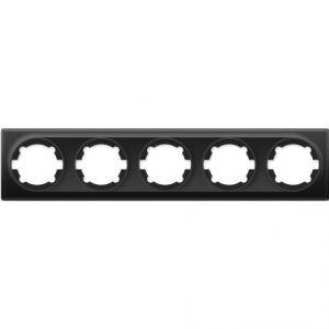 1E52501303 Рамка на 5 приборов, цвет чёрный