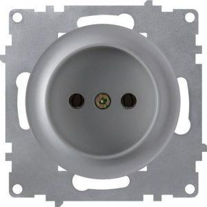 1E10301302 Розетка без заземления, винтовые контакты, цвет серый