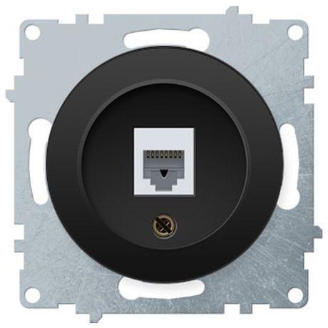 1E20601303 Розетка телефонная 1xRJ11, цвет чёрный