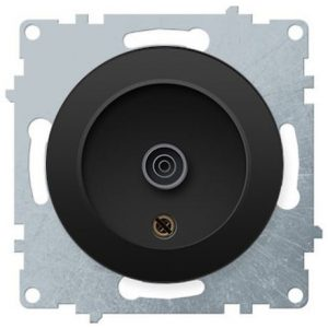 1E21101303 Розетка антенная TV, цвет чёрный