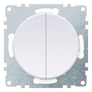 1E31501300 Выключатель двойной, цвет белый