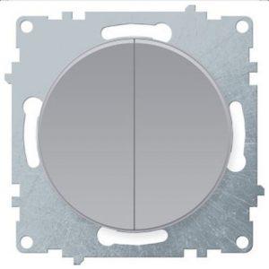 1E31501302 Выключатель двойной, цвет серый