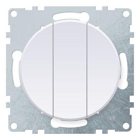 1E31901300 Выключатель тройной, цвет белый