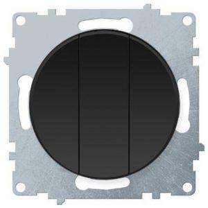 1E31901303 Выключатель тройной, цвет чёрный