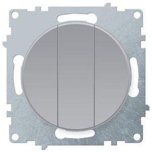 1E31901302 Выключатель тройной, цвет серый