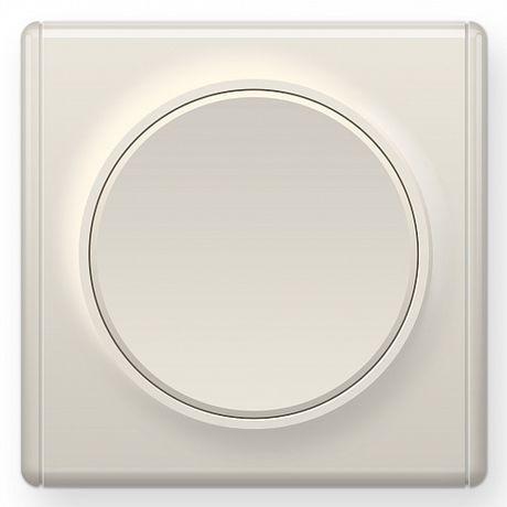1E31301301 Выключатель одинарный, цвет бежевый с рамкой