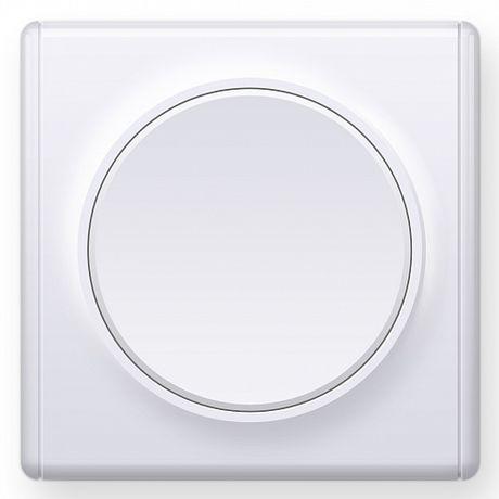 1E31301300 Выключатель одинарный, цвет белый с рамкой