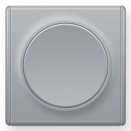 1E31301302 Выключатель одинарный, цвет серый с рамкой