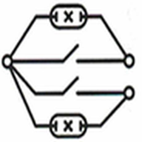 схема выключателя с подсветкой на 2 клавиши