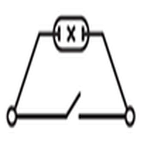 схема одноклавишного выключателя с подстветкой