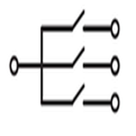 схема трехклавишного выключателя