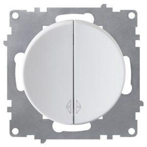 1E31601300 Переключатель двойной, цвет белый