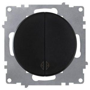 1E31601303 Переключатель двойной, цвет чёрный