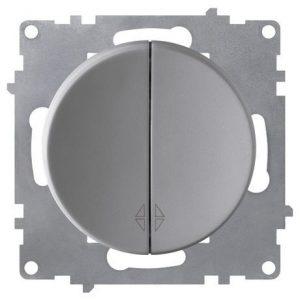 1E31601302 Переключатель двойной, цвет серый