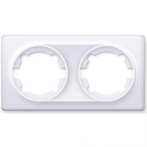 1E52201300 Рамка двойная, цвет белый