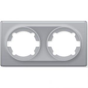1E52201302 Рамка двойная, цвет серый