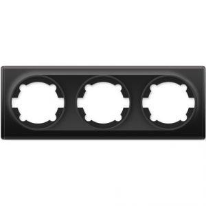 1E52301303 Рамка тройная, цвет чёрный