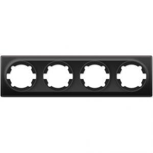 1E52401303 Рамка на 4 прибора, цвет чёрный
