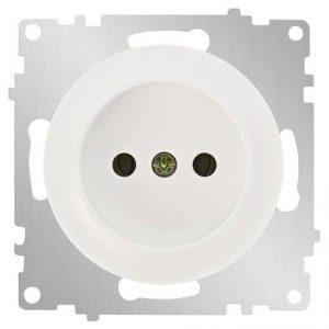 1E10301300 Розетка без заземления, винтовые контакты, цвет белый