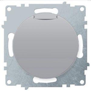 1E10501302 Розетка с крышкой, с заземлением, винтовые контакты, цвет серый