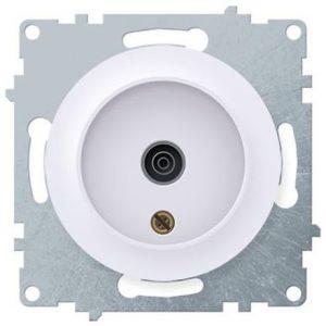 1E21101300 Розетка антенная TV, цвет белый
