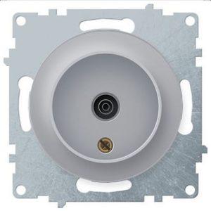 1E21101302 Розетка антенная TV, цвет серый