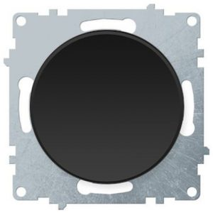 1E31301303 Выключатель одинарный, цвет чёрный