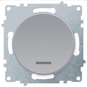 1E31701302 Выключатель одинарный с подсветкой, цвет серый